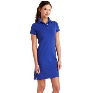 Vineyard Vines Polo Dress Whale Spellout Collar S